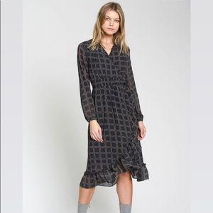 DRA CICERO DRESS - NAVY PRINT